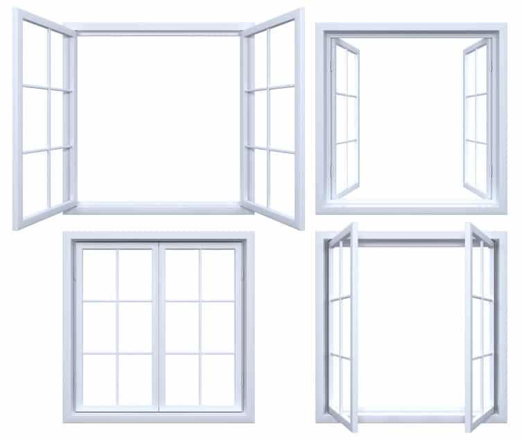 Picture of casement windows.