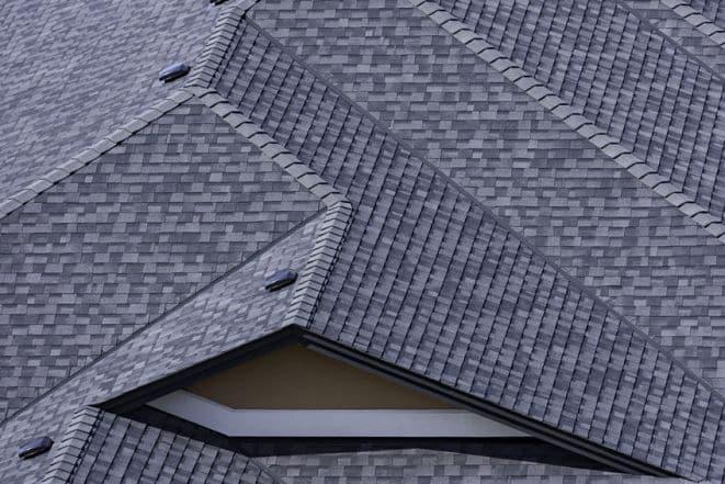 Picture of asphalt roof.