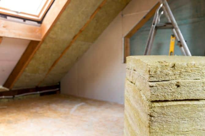 Picture of attic ventilation material.